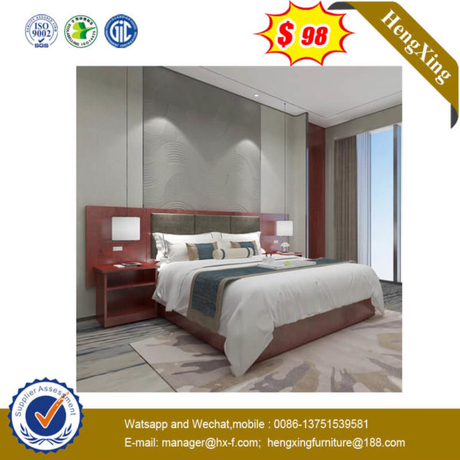 Wooden Double size Excellent latest design hotel bed(UL-9N0222)